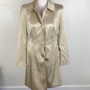 Worthington Gold Trench Coat Jacket Size 4